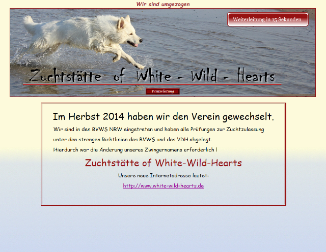 Zuchtstätte of White Wild Hearts